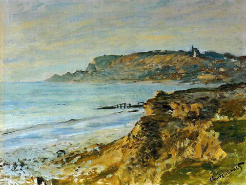 Claude Oscar Monet The Cliff at Sainte-Adresse - Hand Painted Oil Painting