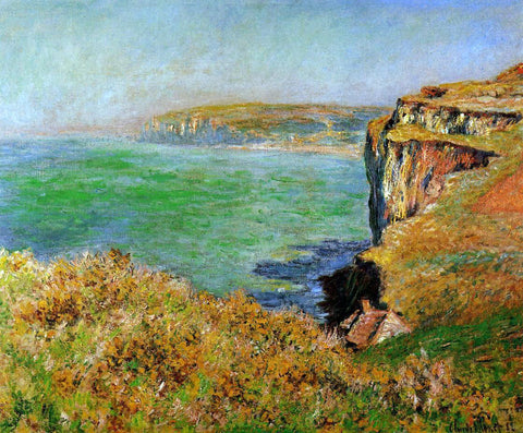 Claude Oscar Monet A Cliff at Varengeville - Hand Painted Oil Painting