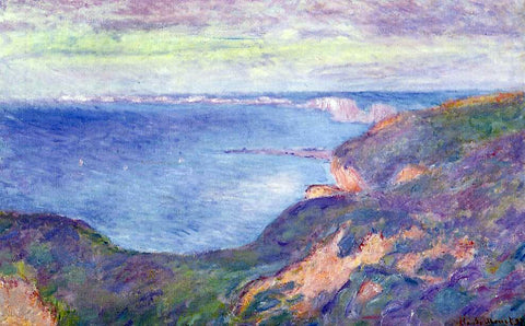 Claude Oscar Monet The Cliff near Dieppe - Hand Painted Oil Painting