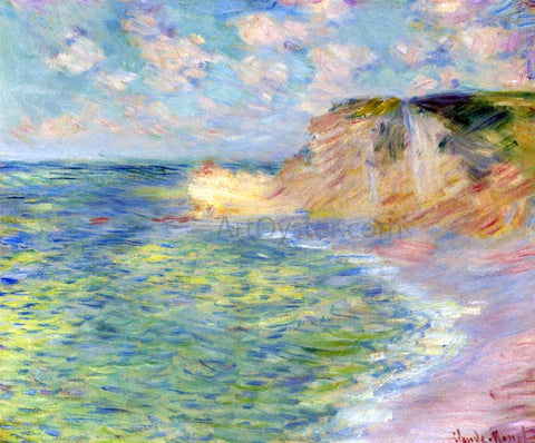 Claude Oscar Monet The Cliffs at Amont - Hand Painted Oil Painting