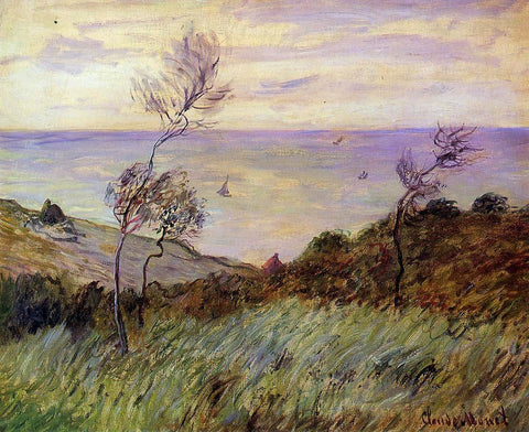 Claude Oscar Monet The Cliffs of Varengeville, Gust of Wind - Hand Painted Oil Painting