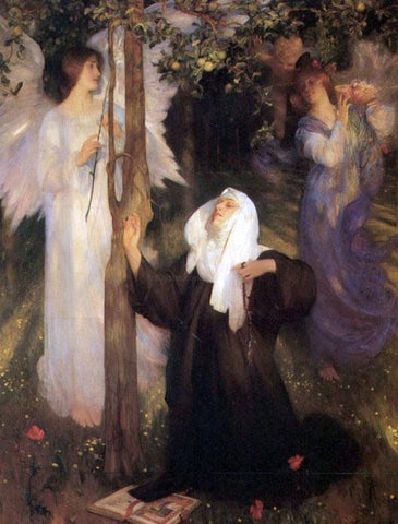 Arthur Hacker The Cloister or the World? - Hand Painted Oil Painting