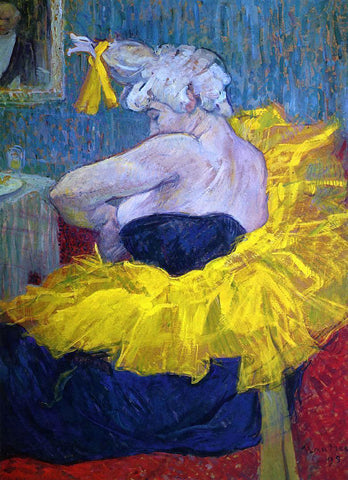 Henri De Toulouse-Lautrec The Clowness Cha-U-Kao Fastening Her Bodice - Hand Painted Oil Painting