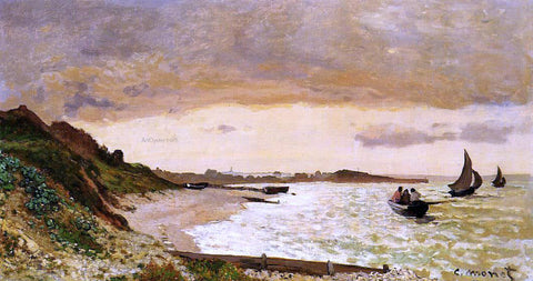 Claude Oscar Monet The Coast at Sainte-Adresse - Hand Painted Oil Painting