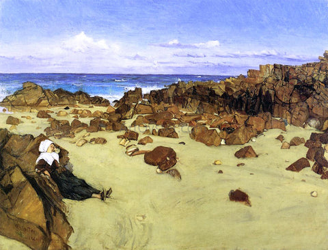 James McNeill Whistler The Coast of Brittany (also known as Alone with the Tide) - Hand Painted Oil Painting