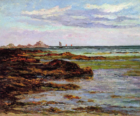 Maxime Maufra The Coastline in Brittany - Hand Painted Oil Painting