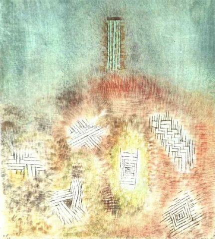 Paul Klee The Column - Hand Painted Oil Painting