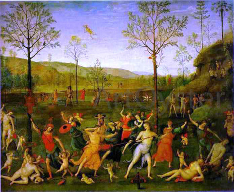 Pietro Perugino The Combat of Love and Chastity - Hand Painted Oil Painting