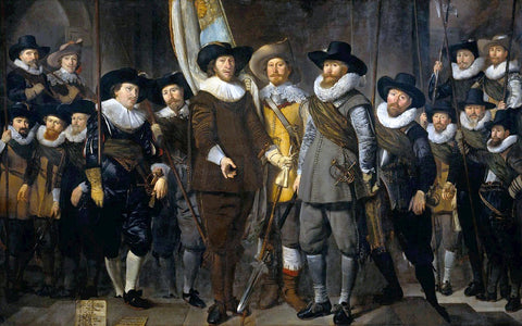 Thomas De Keyser The Company of Cpt. Allaert Cloeck and Lt. Lucas Jacob - Hand Painted Oil Painting