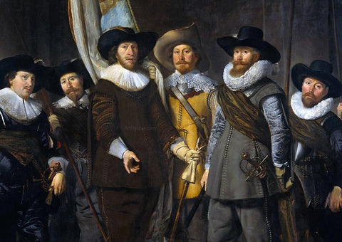 Thomas De Keyser The Company of Cpt. Allaert Cloeck and Lt. Lucas Jacob (detail #1) - Hand Painted Oil Painting
