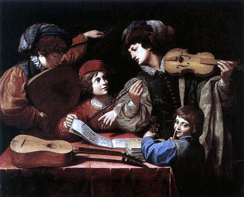 Lionello Spada The Concert - Hand Painted Oil Painting