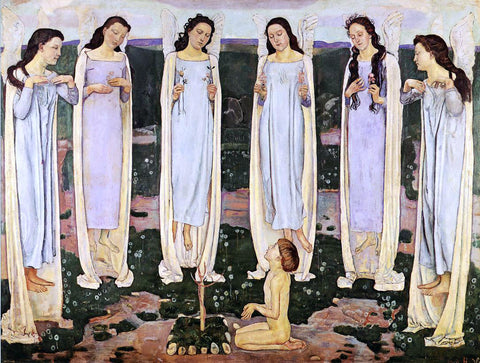 Ferdinand Hodler The Consecrated One - Hand Painted Oil Painting