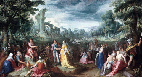 Karel Van Mander The Continence of Scipio - Hand Painted Oil Painting