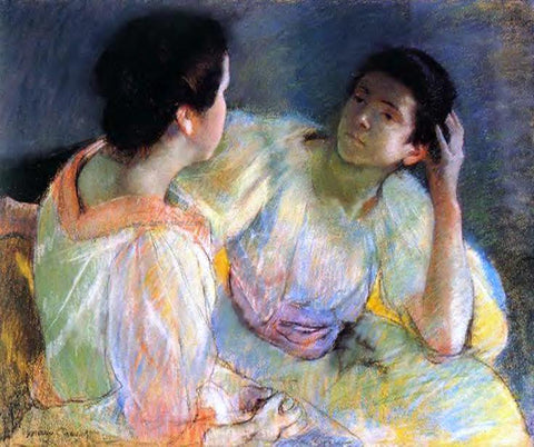 Mary Cassatt The Conversation - Hand Painted Oil Painting