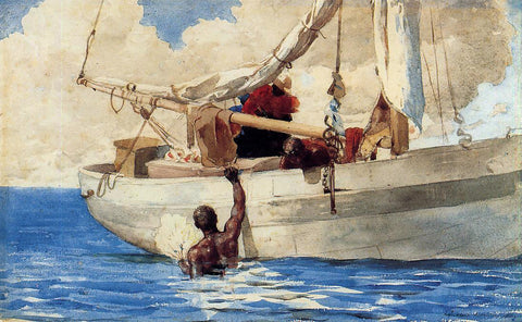 Winslow Homer The Coral Divers - Hand Painted Oil Painting