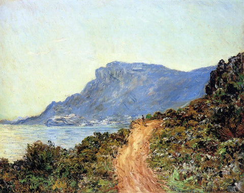Claude Oscar Monet The Corniche of Monaco - Hand Painted Oil Painting