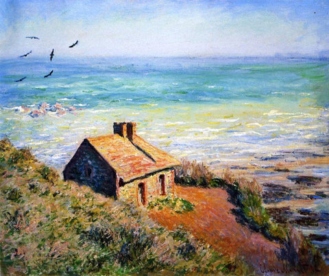 Claude Oscar Monet A Costoms House, Morning Effect - Hand Painted Oil Painting