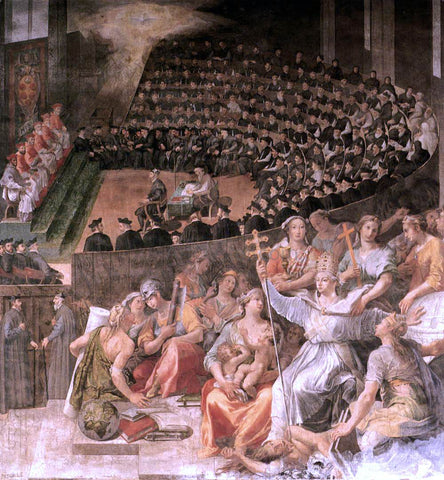 Pasquale Cati Da Iesi The Council of Trent - Hand Painted Oil Painting