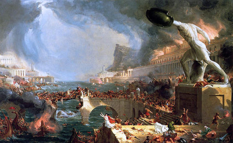 Thomas Cole The Course of Empire: Destruction - Hand Painted Oil Painting