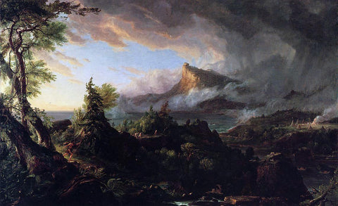 Thomas Cole The Course of Empire: The Savage State - Hand Painted Oil Painting