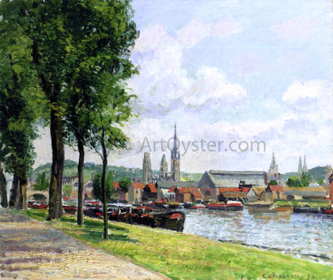 Camille Pissarro The Cours-la-Riene, The Notre-Dame Cathedral, Rouen - Hand Painted Oil Painting