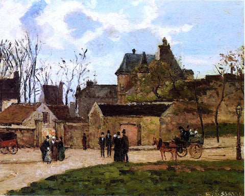 Camille Pissarro The Court House, Pontoise - Hand Painted Oil Painting