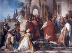 Arthur Georg Von Ramberg The Court of Emperor Frederick II in Palermo - Hand Painted Oil Painting