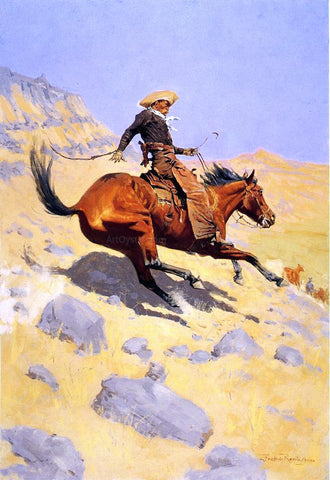 Frederic Remington The Cowboy - Hand Painted Oil Painting