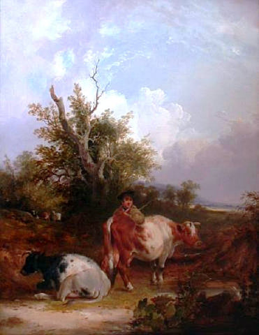 Senior William Shayer The Cowherd - Hand Painted Oil Painting