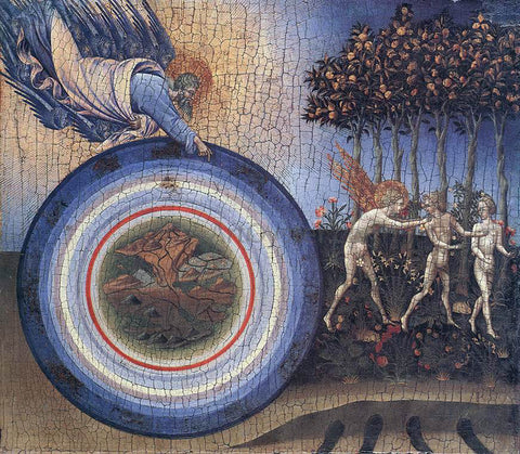 Giovanni Di Paolo The Creation and the Expulsion from the Paradise - Hand Painted Oil Painting
