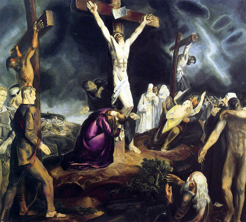 George Wesley Bellows The Crucifixion - Hand Painted Oil Painting
