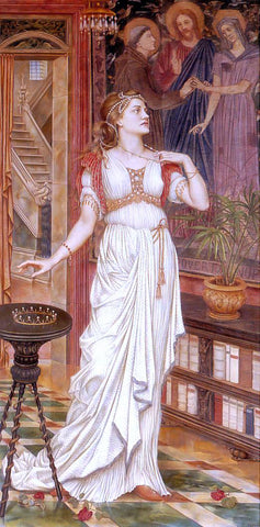 Evelyn De Morgan The Crown of Glory - Hand Painted Oil Painting