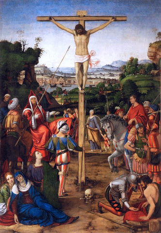 Andrea Solario The Crucifixion - Hand Painted Oil Painting