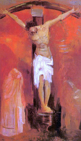 Odilon Redon The Crucifixion - Hand Painted Oil Painting
