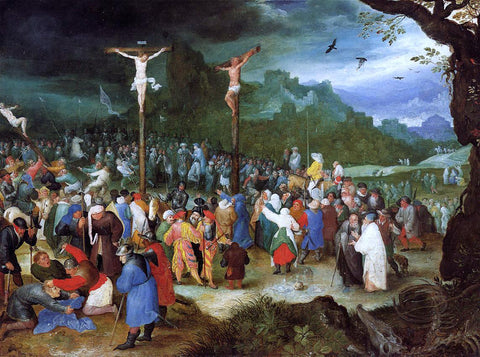 The Elder Jan Bruegel The Crucifixion - Hand Painted Oil Painting