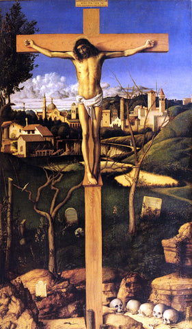 Giovanni Bellini The Crucifixion - Hand Painted Oil Painting