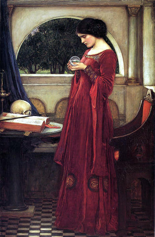 John William Waterhouse The Crystal Ball - Hand Painted Oil Painting