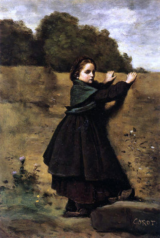 Jean-Baptiste-Camille Corot The Curious Little Girl - Hand Painted Oil Painting