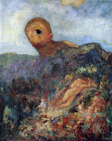 Odilon Redon The Cyclops - Hand Painted Oil Painting