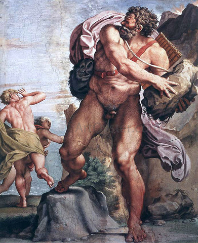 Annibale Carracci The Cyclops Polyphemus - Hand Painted Oil Painting