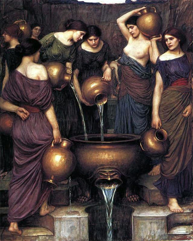 John William Waterhouse The Danaides - Hand Painted Oil Painting