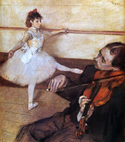 Edgar Degas The Dance Lesson - Hand Painted Oil Painting