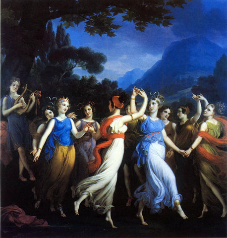Joseph Paelinck The Dance of the Muses - Hand Painted Oil Painting