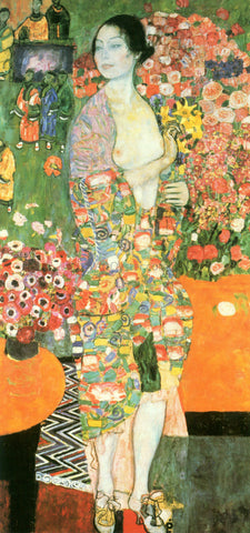 Gustav Klimt A Dancer - Hand Painted Oil Painting