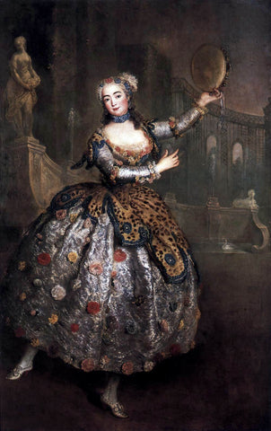 Antoine Pesne The Dancer Barbara Campanini - Hand Painted Oil Painting