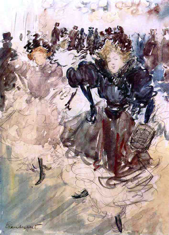 Maurice Prendergast The Dancers - Hand Painted Oil Painting
