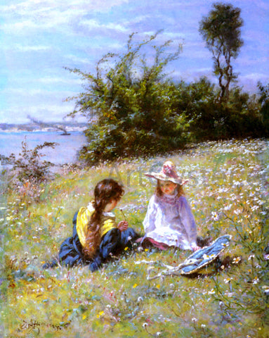 William John Hennessy The Dandelion Clock - Hand Painted Oil Painting