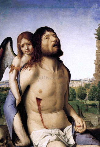 Antonello Da Messina The Dead Christ Supported by an Angel - Hand Painted Oil Painting