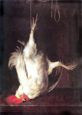 Gabriel Metsu The Dead Cockerel - Hand Painted Oil Painting