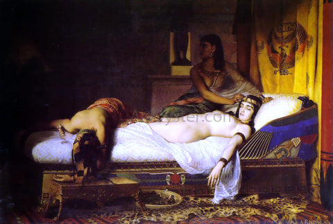 Jean Andre Rixens The Death of Cleopatra - Hand Painted Oil Painting